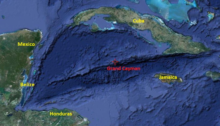 Map Showing Grand Cayman