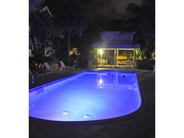 Coconut Bay - The back pool at night